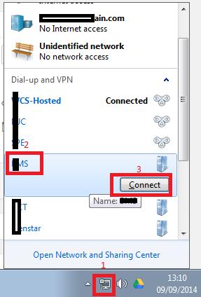 Create a VPN Connection in Windows 7 - BlueCompute
