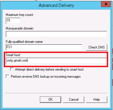 Creating an email (SMTP) relay server in Windows 2008 and 2012